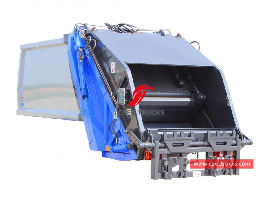 High quality 5,000 liters waste compressor truck upper body