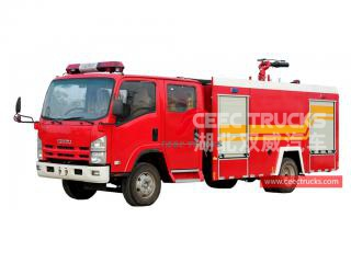 ISUZU 4+1CBM fire fighting truck