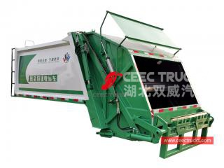 Brand new 8,000 liters compressed waste truck body structure