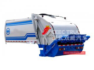 European standard 5,000 liters waste compression truck upper body