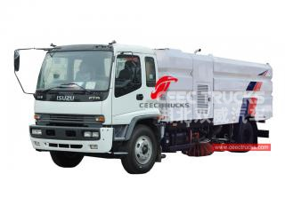 ISUZU 15cbm road sweeping and washing truck