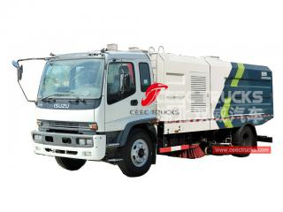 ISUZU 15cbm road sweeper truck with washing system