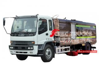 ISUZU 16cbm street sweeper truck with washing system