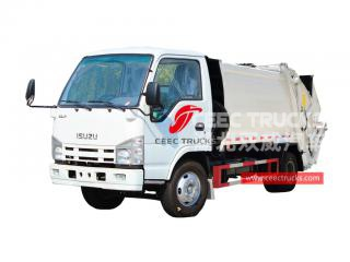 Factory price ISUZU 5CBM Garbage compression truck for exporting