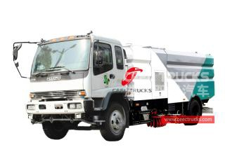 ISUZU 12cbm road sweeper and washer truck