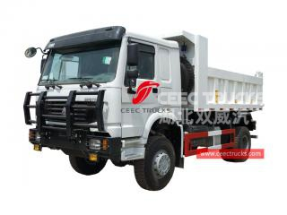 HOWO all wheel drive 4x4 tipper lorry