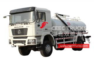 Shacman 6 wheeler AWD vacuum sewer truck