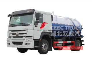 HOWO 4×2 right hand drive sewage suction truck