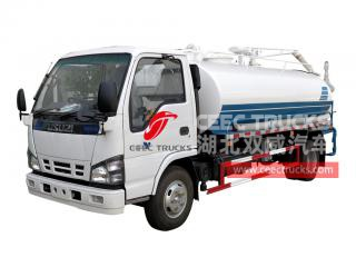 ISUZU 4×2 vacuum sucker truck