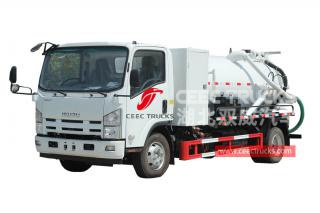 ISUZU 6 wheeler sewer suction truck