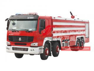 HOWO 8×4 foam fire lorry
