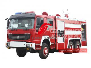 HOWO 6×6 foam fire engine