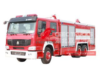 HOWO 10 wheeler fire engine