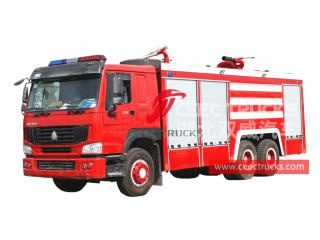 HOWO dry powder fire lorry