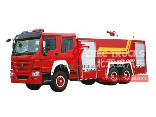 HOWO 10 wheeler water tank fire lorry