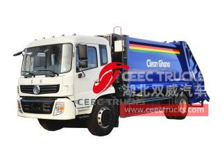 Dongfeng 6 wheeler garbage compressed truck