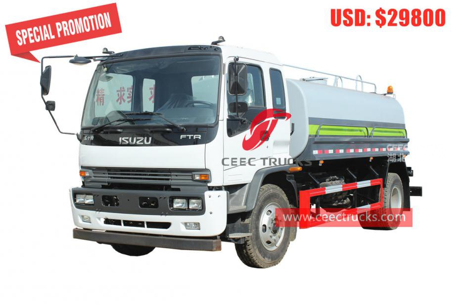 ISUZU FTR water tanker truck for sale