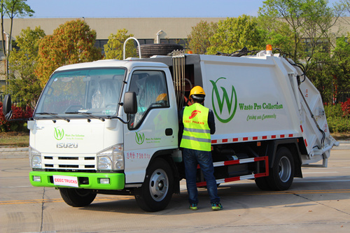 ISUZU 6cbm garbage compactor trucks hot sale