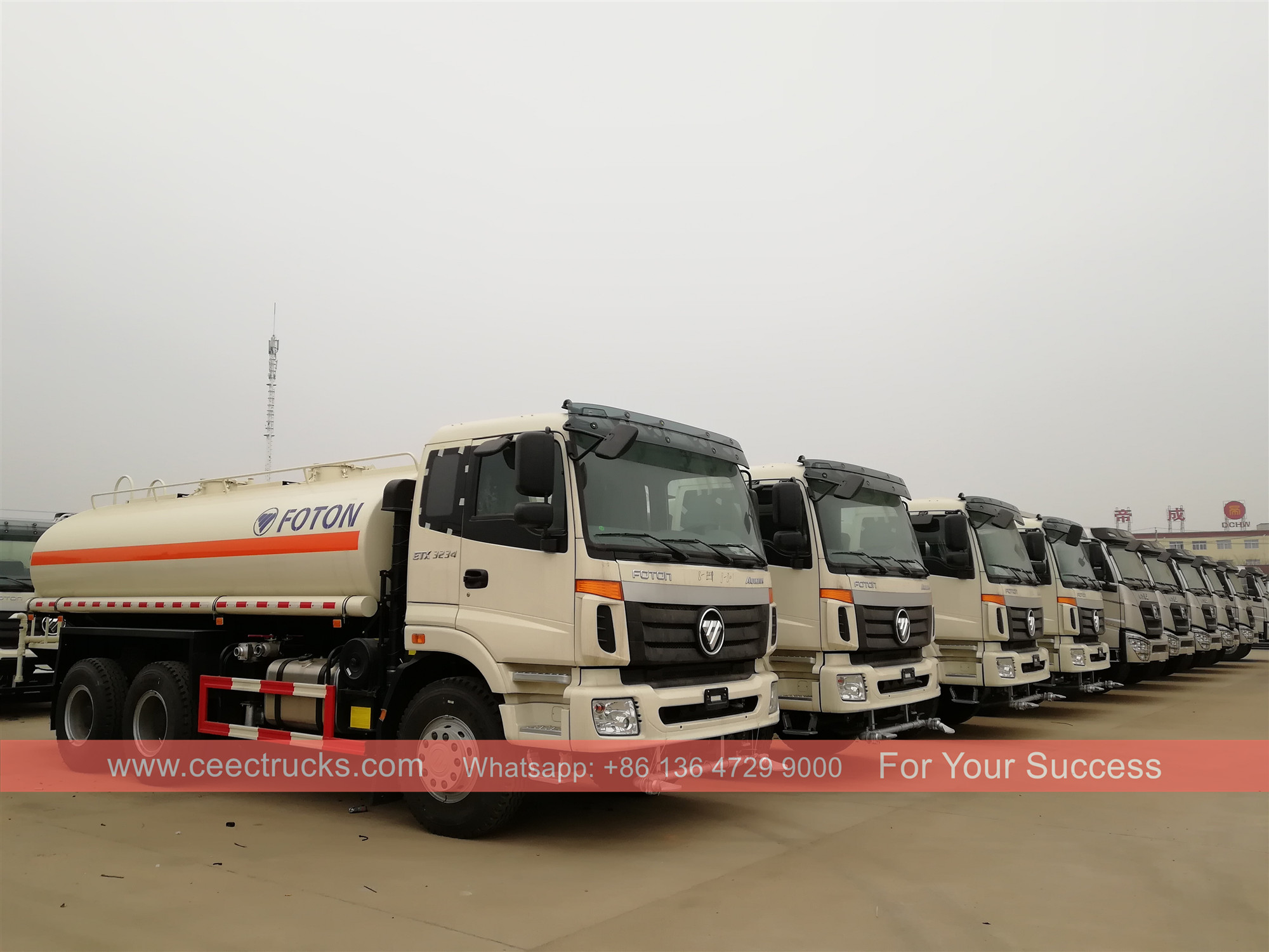 35 units FOTON Water tanker trucks were delivered to Africa