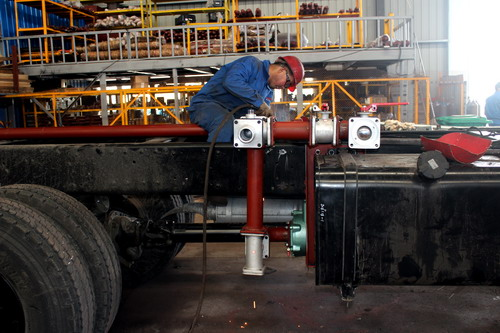 Production of 20 CBM water tanker truck ( Part 2- PTO and water pump )