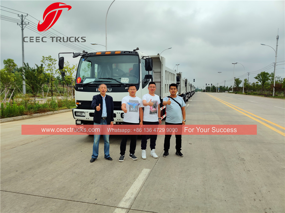 10 units ISUZU FVR dump truck export to Philippine