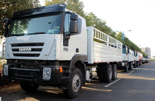 100 units IVECO fuel tanker and cargo truck export to Ethopia