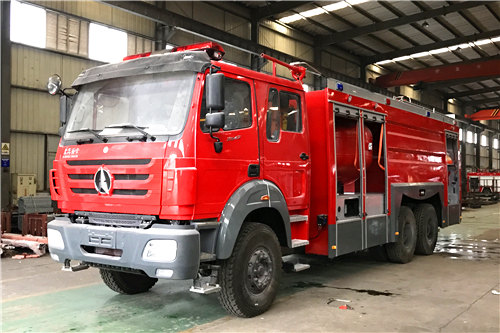 Beiben Powder & Foam firefighting truck export Africa