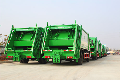 37 units garbage Trucks for China government project
