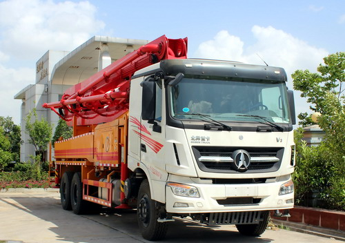 Beiben V3 concrete pump truck export to doha