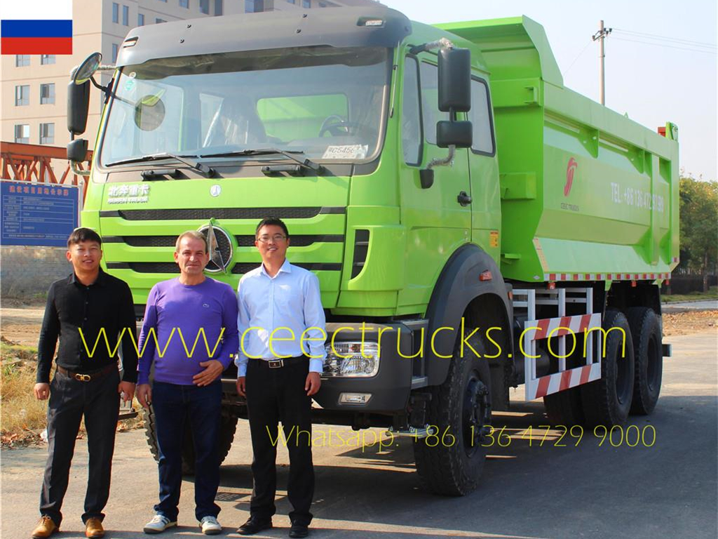 Russis Client Visited Us Second Time Inspecting Beiben 2538 Dump Truck