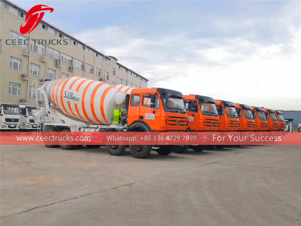 Cote Dlvoire- 8 units beiben 3138 concrete mixer trucks are successfully exported