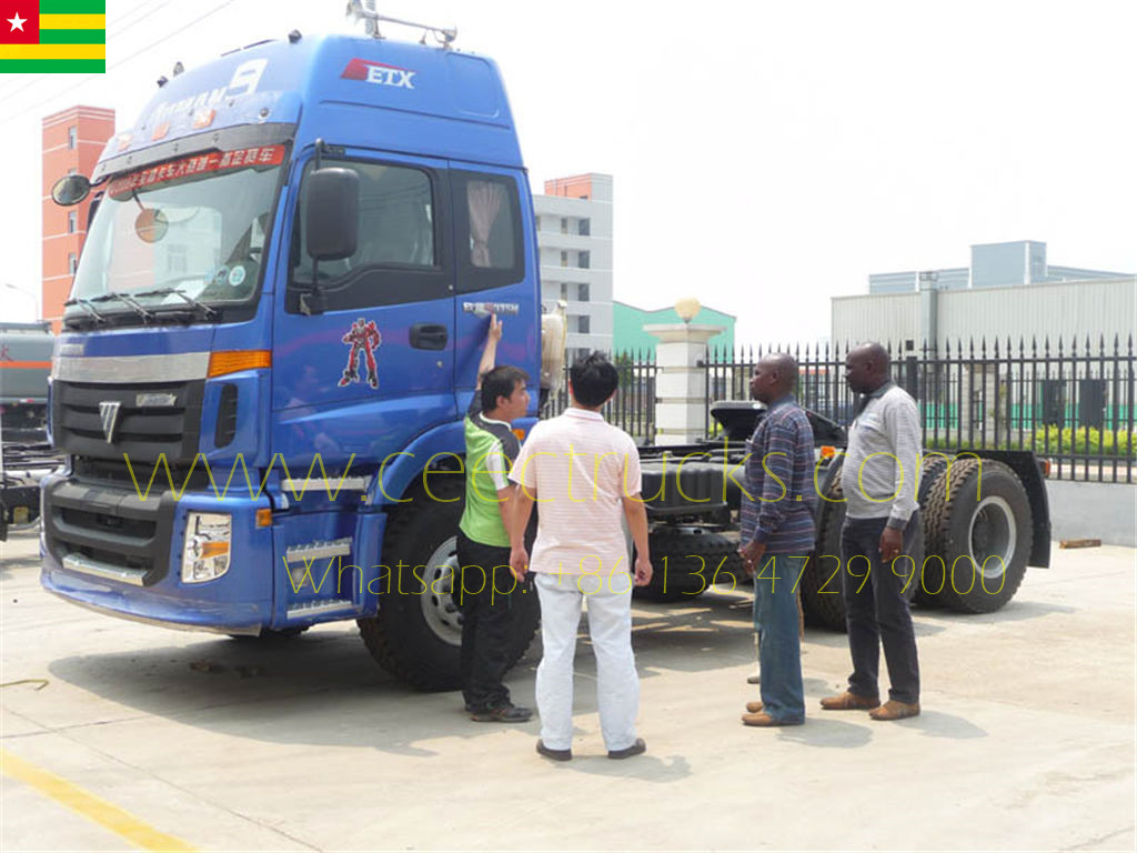Togo customer visiting CEEC buying FOTON prime mover