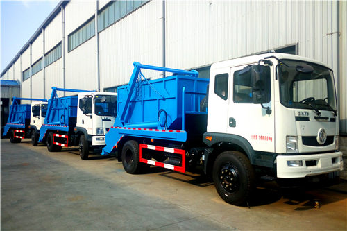 40 units DONGFENG 10cbm swing arm truck for Myanmar sanitation project