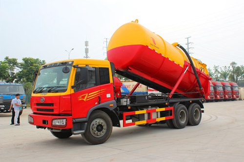 19CBM RHD FAW vacuum pump truck for sale