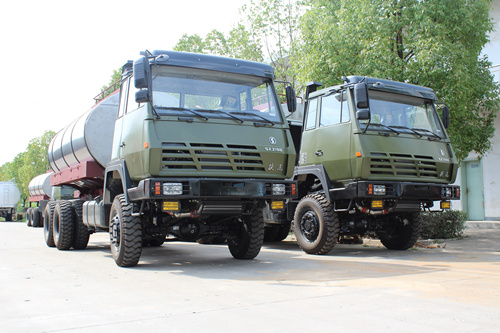 SHACMAN 6*6 military fuel tanker truck export to Africa