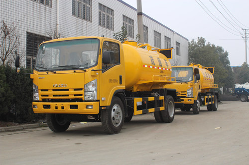 ISUZU combined vacuum tank truck for sale