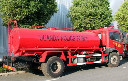50 units FAW fire trucks for Uganda police force