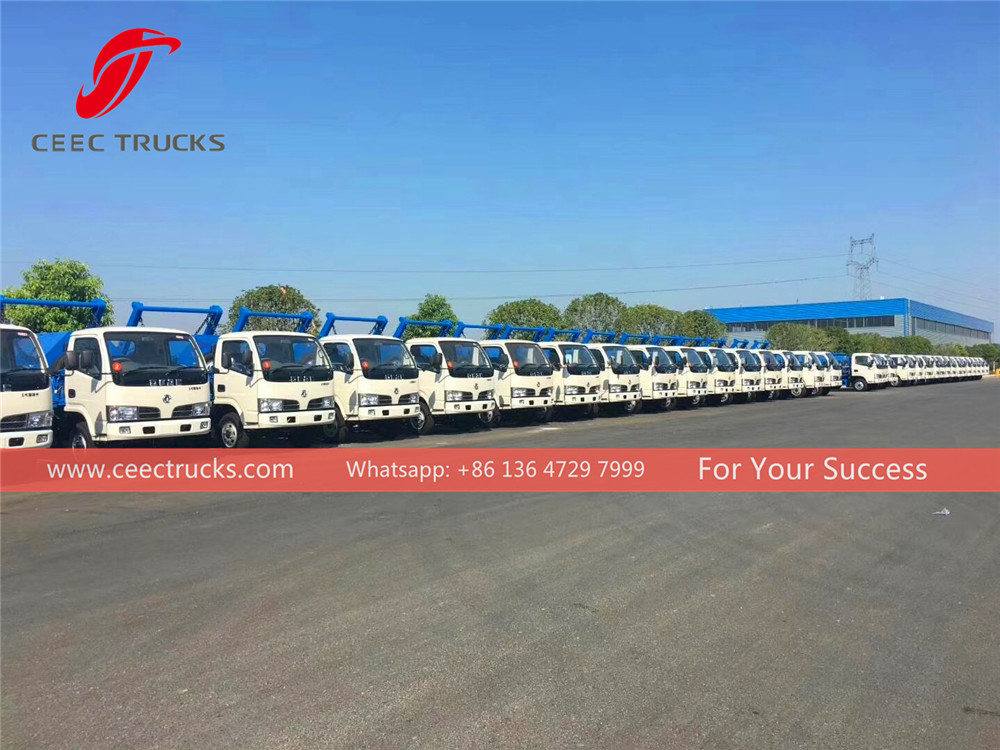 50 units dongfeng skip loader truck export to Myanmar