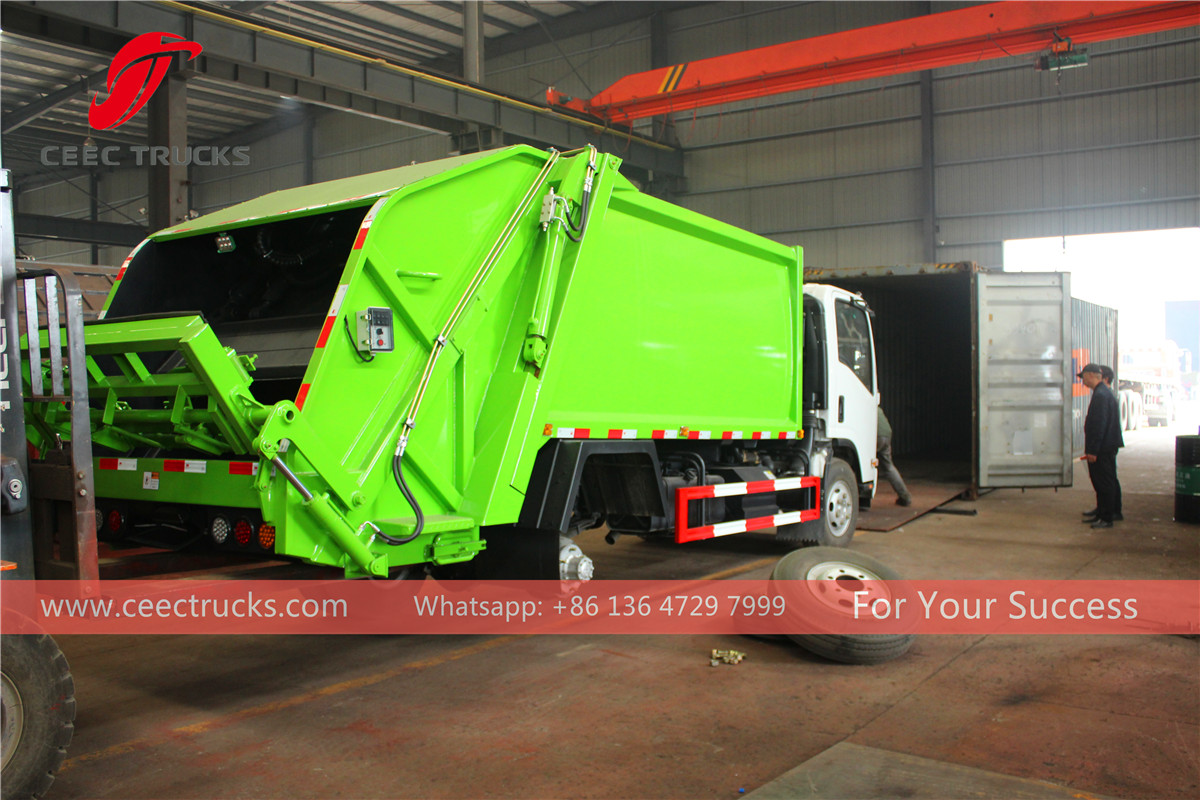 Cabo Verde - 1 unit garbage compactor truck into 40 HQ container