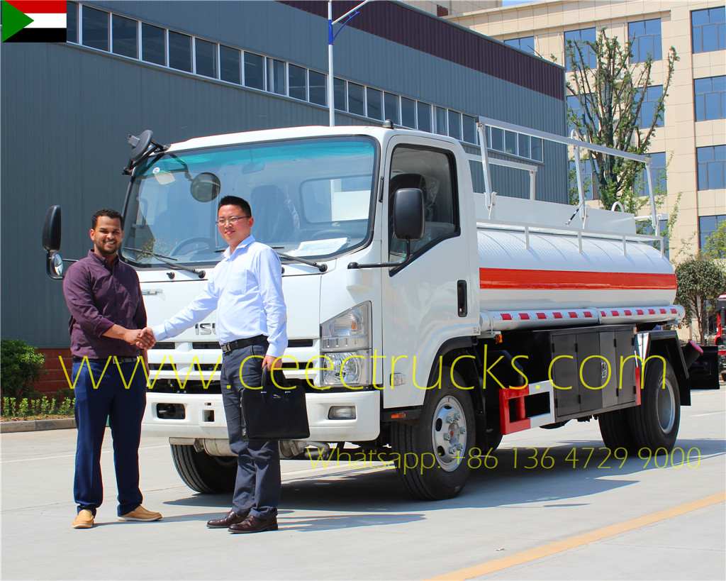 Sudan Customer Came to Visit us for Testing his ISUZU 5CBM fuel tanker truck