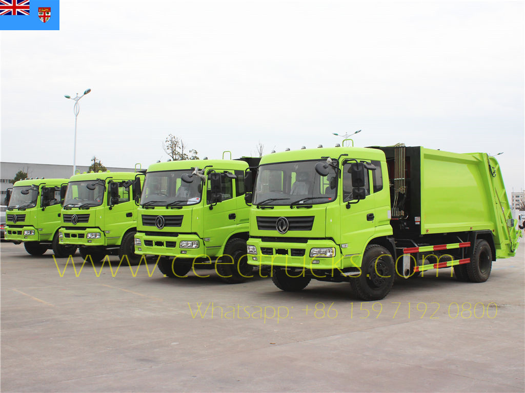 Fiji customer buy 4 units Dongfeng RHD compactor trucks
