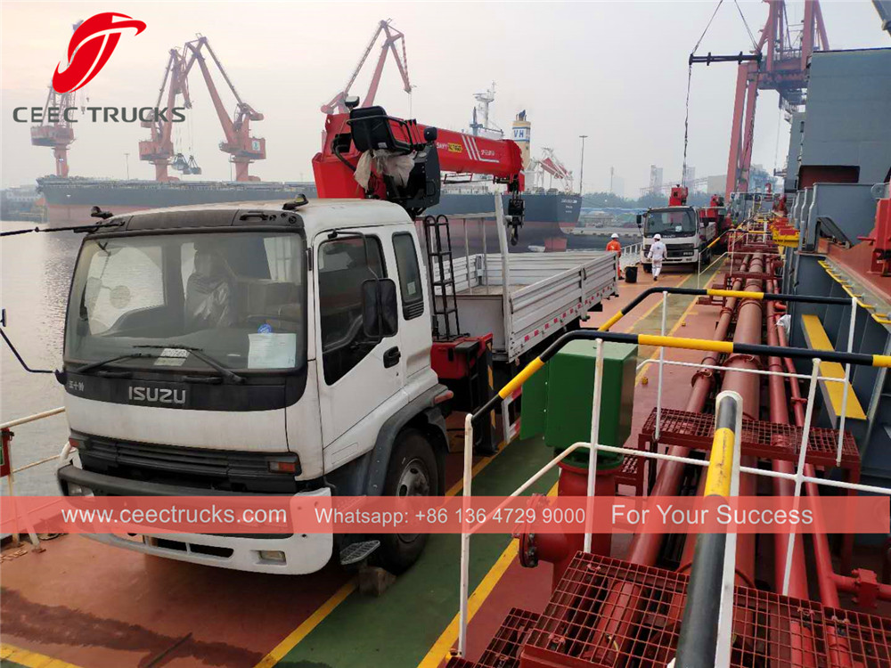 Myanmar - 5 units ISUZU trucks shipping on board