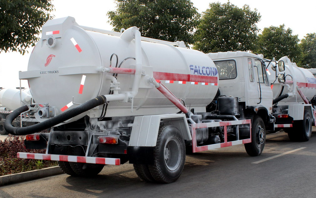 CEEC brand 8 CBM sewage suction truck export to Ecuador