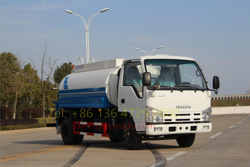 5 units ISUZU 100 P water tanker truck export to south asia